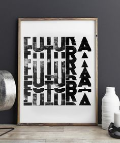 Futura, collage by Cabaret Typographie. We used the Semplicità (italian type) by Alessandro Butti. The collage is composed by a lot of stripes of a poster, but it keeping the readibility and giving the idea of movement.