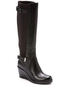 """Cole Haan """"Fulton"""" Leather & Suede Wedge Boot is on Rue. Shop it now."""