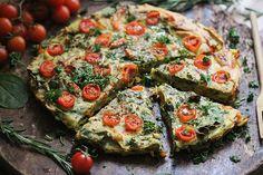 Vegane mediterrane Mungobohnen-Frittata
