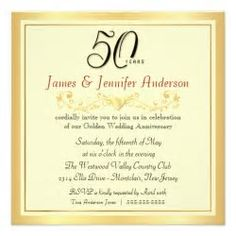 Image result for 50th wedding anniversary invitations