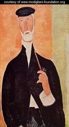 Man with a Pipe (aka The Man from Nice) - Amedeo Modigliani - www.modigliani-foundation.org