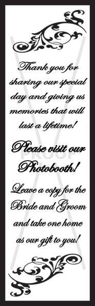 Photobooth Frame Inserts