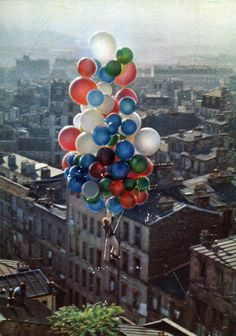 Paris-----> Le Ballon Rouge 1956    The film, which has a music score but almost no dialogue, tells of Pascal (Pascal Lamorisse), who, on his way to school one morning, discovers a large helium-filled red balloon.