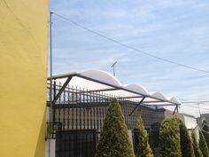 domo con estructura metalica arco cañon color opalino