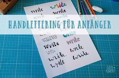 Instructions for designing a handlettering for beginners: this is how the faux calligraphy effect works, tips for writing and practicing, handlettering Source by ebrodmann