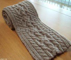 Triumph Cable Scarf Pattern ~ smariek knits free pattern
