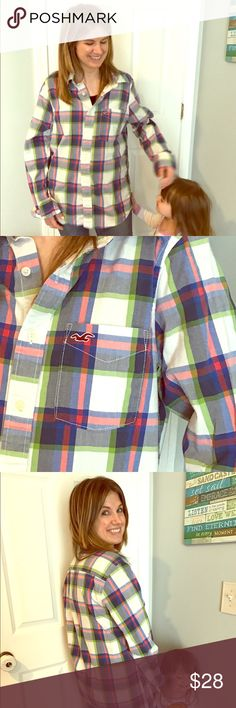 Hollister extremely soft plaid button down Such a cozy comfy button down shirt! Perfect for a day out or a day around the house. Basically brand new, only worn a couple times. Hollister Shirts Casual Button Down Shirts