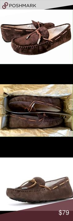 NIB AUTH UGG moccasins loafers tie bow This pair of UGGS has never been taken out of its original bags or box ( just for pic) super soft, in a size 8 espresso UGG Shoes Moccasins