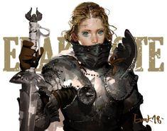 브레이브 by 애락 (Erak note)Enjoy More Battle-Ready Babes. Fantasy Character Design, Character Design Inspiration, Character Concept, Character Art, Concept Art, Female Armor, Female Knight, Lady Knight, Fantasy Characters