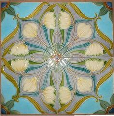 Art Nouveau •~• ceramic tiles