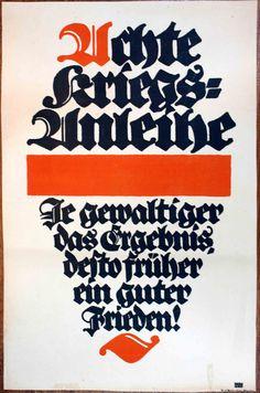 Lucian Bernhard, Achte Kriegsanleihe Je gewaltiger das Ergebnis desto früher ein guter Frieden, 1918