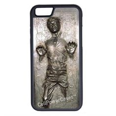 CellPowerCasesTM Han Solo Carbonite (Flat Back Not 3D) iPhone 6 (4.7)... ($13) ❤ liked on Polyvore featuring accessories, tech accessories and black