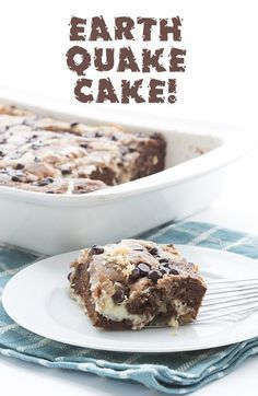 This crazy mixed up keto earthquake cake is truly delicious stuff! An easy low carb chocolate cake to whip up, and a hit with all who try it.