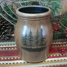 Northwoods Pine Trees Utensil Jar