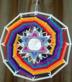 Mandala Yarn, Crochet Mandala, Dream Catcher Tutorial, Dream Catcher Art, Crochet Dreamcatcher, Hoop Dreams, Gods Eye, Deco Boheme, Magic Circle