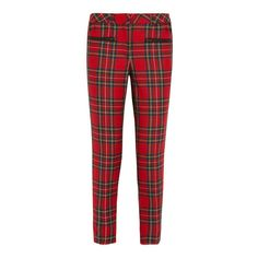 Karl Goes Punk! Karl Lagerfeld Launches An 11-Piece Tartan-tastic... ❤ liked on Polyvore featuring pants, bottoms, jeans and trousers