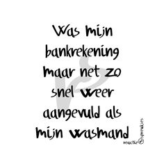 Bankrekening & wasmand #humor