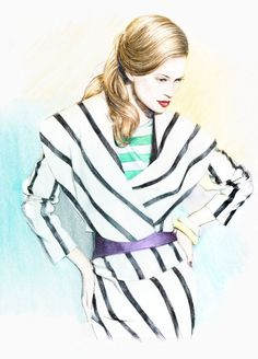 Fashion Illustration by Anca G. Lungu, via Behance