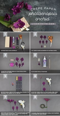 DIY Crepe Paper Orchid