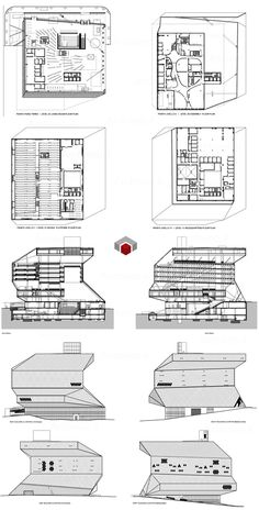 Rem Koolhaas - Seattle Library dwg 2D