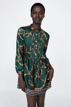 Zara, Vestido Casual, Lipsy, Fashion Outfits, Womens Fashion, Fashion Prints, Spring Fashion, Ideias Fashion, Silk