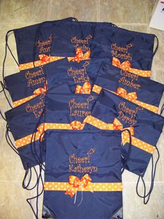 Cheer Bags for entire team Personalized in by memoriescollection