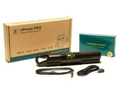 nPower PEG - Move and don't lose it. The personal energy generator (PEG) stores your kinetic energy from walking, running, or biking so you can power your mobile device wherever you are.