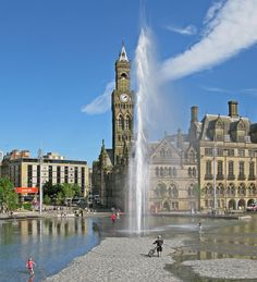Fountain in Bradford City Park jigsaw puzzle in Street View puzzles on TheJigsawPuzzles.com