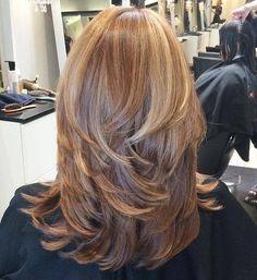 Corte de pelo largo acodado Cabello Fino