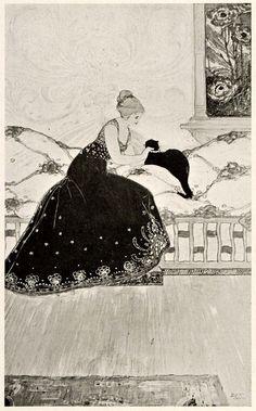 'The Black Cat' by Leon V. Solon, circa 1899