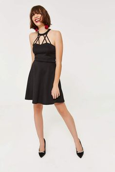 a327c701c14 Ardene Ponte Knit High Neck Mini Dress Bodice