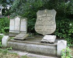 The Salvation Army founder, William Booth's grave.