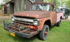 57 Ford F series Vintage Pickup Trucks, Old Ford Trucks, Ford Tractors, Farm Trucks, Ford 4x4, Lifted Trucks, 1951 Ford Truck, Jeep Truck, Small Trucks