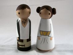 Han and Leia cake toppers