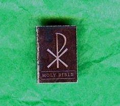 Dollhouse Mini Pax Romana Red Letter Printed Holy Bible   eBay