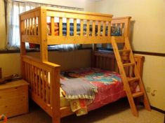 """Excellent """"bunk bed with stairs plans diy"""" information is offered on our website. Read more and you will not be sorry you did. Triple Bunk Beds, Full Bunk Beds, Kids Bunk Beds, Queen Bunk Beds, Bunk Bed Plans, Bunk Beds With Stairs, Bunk Bed Designs, Types Of Beds, Loft Spaces"""