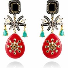 Saira Earrings http://blossomboxjewelry.com/de20.html #jewelry #fashion #india #style #bollywood #designer #earrings