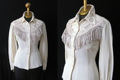 1950's Rodeo Queen Cowgirl Shirt  Patsy Cline style by wearitagain, $250.00