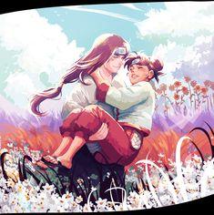 Neji and Tenten #carrying #couple