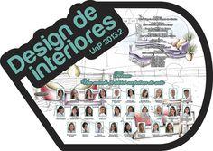 Placa de formatura Design de Interiores UnP 2013.2