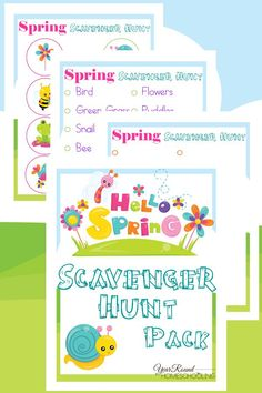 Hello Spring Scavenger Hunt - By Year Round Homeschooling