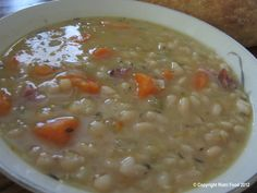 One of my hubby's favs....Bean Soup with Ham