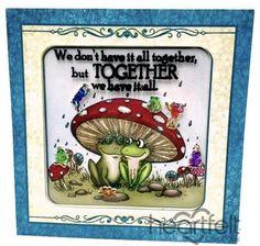 Heartfelt Creations   Shrinky Dink Frog