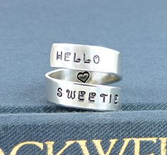 Hello Sweetie  Doctor Who  Tardis   Wrap Ring by fromtheinternet, $10.00