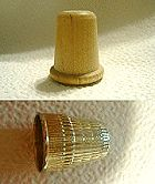 Wooden or Nickel Thimble - A great thimble for your sewing.  Price: $1.00