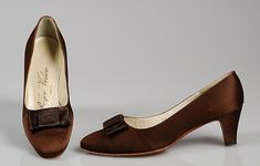 Roger Vivier silk evening pumps | 1964 | #vintage #1960s #fashion