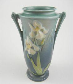 Roseville Iris Art Pottery Vase #Roseville