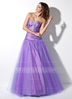 Prom Dresses - $152.99 - A-Line/Princess Sweetheart Floor-Length Taffeta Tulle Prom Dress With Ruffle Beading (018005057) http://jjshouse.com/A-Line-Princess-Sweetheart-Floor-Length-Taffeta-Tulle-Prom-Dress-With-Ruffle-Beading-018005057-g5057
