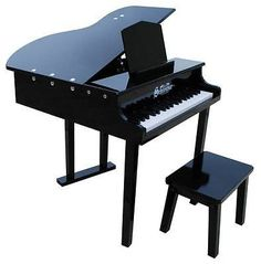 Music and Art 11735: Schoenhut 37-Key Black Children S Kid S Concert Baby Grand Piano W Bench - 379B -> BUY IT NOW ONLY: $264.99 on eBay!