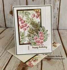 Birthday Cards For Women, Happy Birthday Cards, Potpourri, Stamped Christmas Cards, Leaf Cards, Stamping Up Cards, Get Well Cards, Pretty Cards, Sympathy Cards